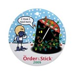 2009 Order Of The Stick Holiday Round Ornament