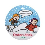 2006 Order Of The Stick Holiday Round Ornament