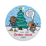 2005 Order Of The Stick Holiday Round Ornament
