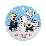 2004 Order Of The Stick Holiday Round Ornament