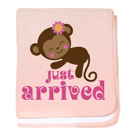 Just Arrived Monkey baby blanket