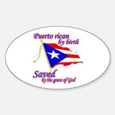 Puerto rican Sticker (Oval)