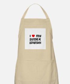 I * my Sussex Spaniel BBQ Apron