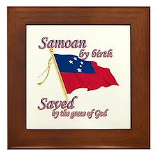 Samoan by birth Framed Tile
