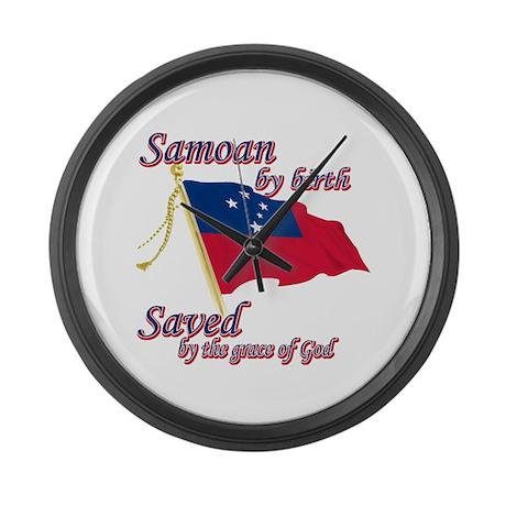Samoan by birth Large Wall Clock