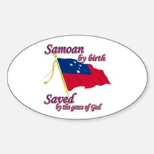 Samoan by birth Sticker (Oval)