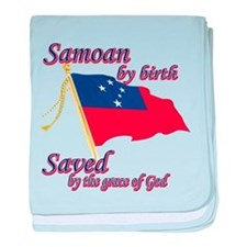 Samoan by birth baby blanket