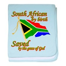 South African by birth baby blanket