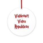 Voldemort Votes Republican Ornament (Round)