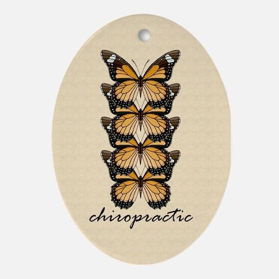 Chiro Butterflies Ornament (Oval)