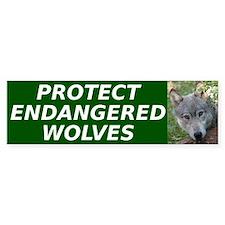 """Protect Endangered Wolves"" Bumper Stick"