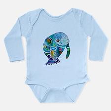 Manatees Endangered Species Long Sleeve Infant Bod