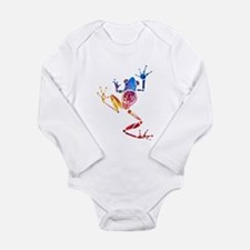 Tree Frog Bright Colors Long Sleeve Infant Bodysui