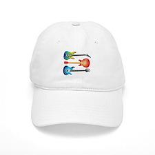3 Electric Guitars Baseball Baseball Cap