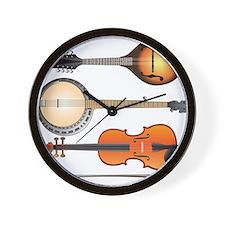 Mandolin Banjo and Fiddle Wall Clock