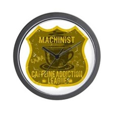 Machinist Caffeine Addiction Wall Clock