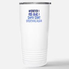 Feeling Blue Stainless Steel Travel Mug