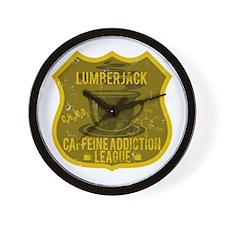 Lumberjack Caffeine Addiction Wall Clock