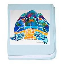 African Spur Tortoise baby blanket