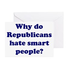 Why Hate Smart People? Greeting Cards (Package of
