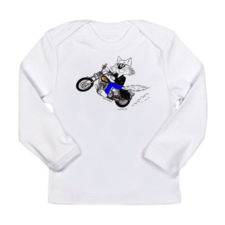 Motorcycle Cat Long Sleeve Infant T-Shirt
