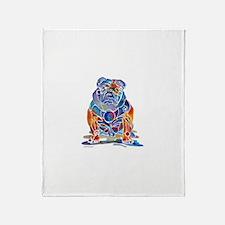 Whimsical English Bulldog Throw Blanket