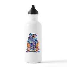 Whimsical English Bulldog Water Bottle