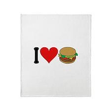 I Love Hamburgers (design) Throw Blanket