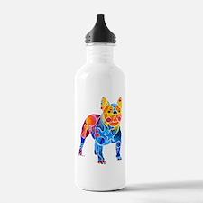 Whimsical French Bulldog Water Bottle
