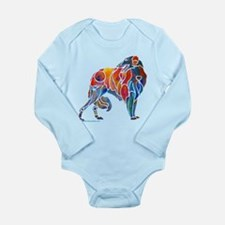 Borzoi in Many Colors Long Sleeve Infant Bodysuit