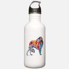 Borzoi in Many Colors Water Bottle