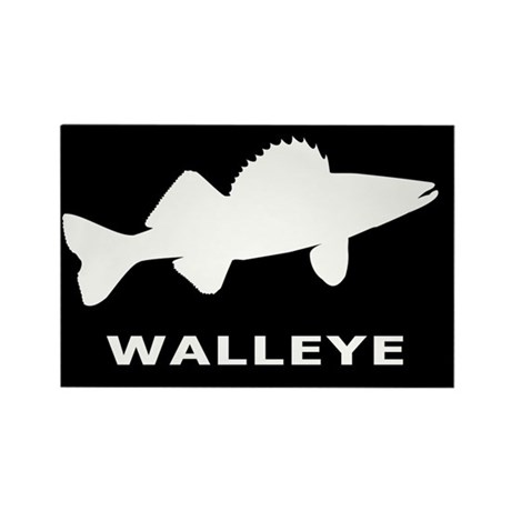 Walleye. Just Walleye Rectangle Magnet (10 pack)