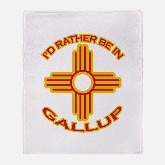 I'd Rather Be In Gallup Throw Blanket