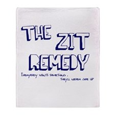 The Zit Remedy Throw Blanket