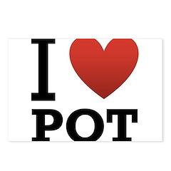 I Love Pot Postcards (Package of 8)