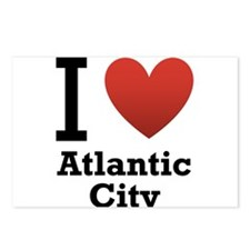 I Love Atlantic City Postcards (Package of 8)