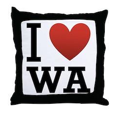 I Love Washington Throw Pillow