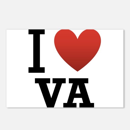 I Love Virginia Postcards (Package of 8)