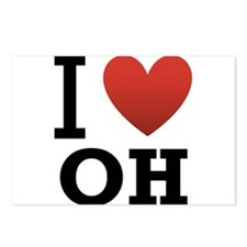 I Love Ohio Postcards (Package of 8)