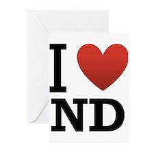 I Love North Dakota Greeting Cards (Pk of 20)