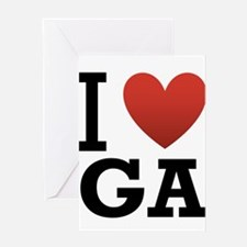I Love Georgia Greeting Card