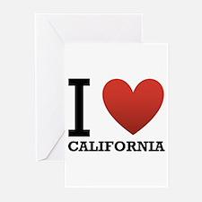 I Love California Greeting Cards (Pk of 20)