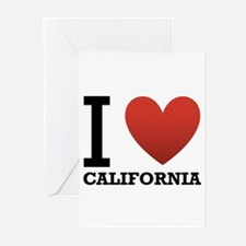 I Love California Greeting Cards (Pk of 10)