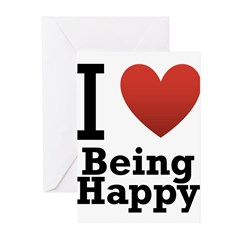 I Love Being Happy Greeting Cards (Pk of 20)