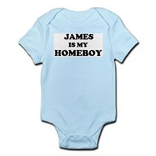 James Is My Homeboy Infant Creeper