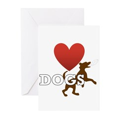 I Love Dogs Greeting Cards (Pk of 20)
