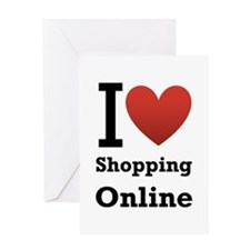 I <3 Shopping Online Greeting Card