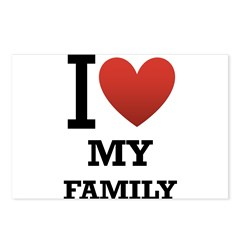 I <3 My Family Postcards (Package of 8)