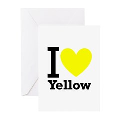 I <3 Yellow Greeting Cards (Pk of 20)