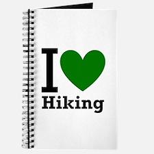 I Love Hiking Green Journal